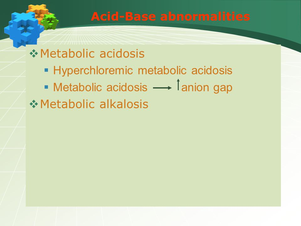 Acid-Base abnormalities