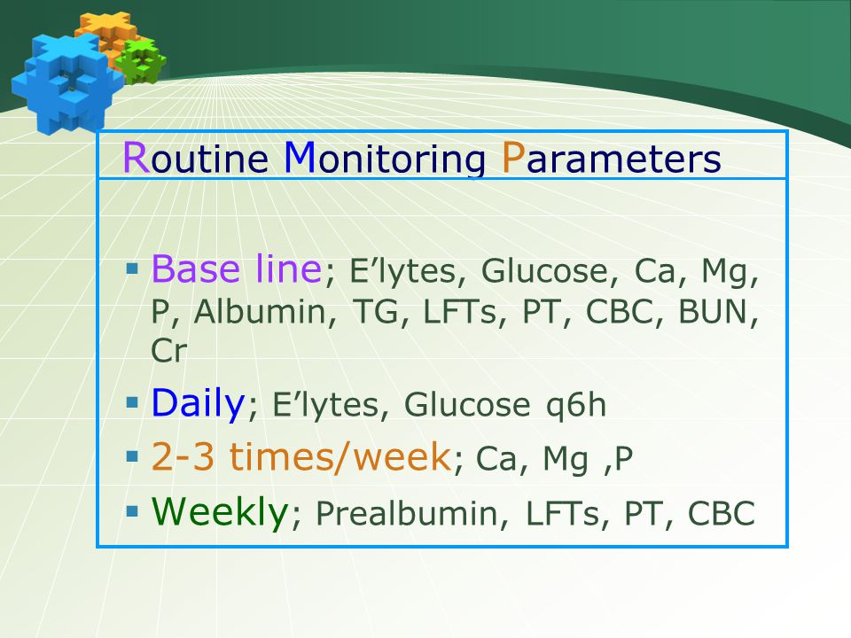 Routine Monitoring Parameters