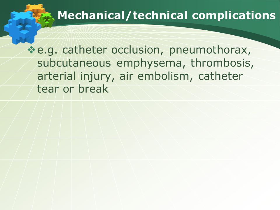 Mechanical/technical complications