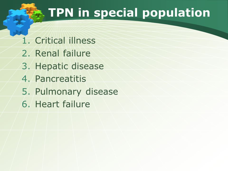 TPN in special population