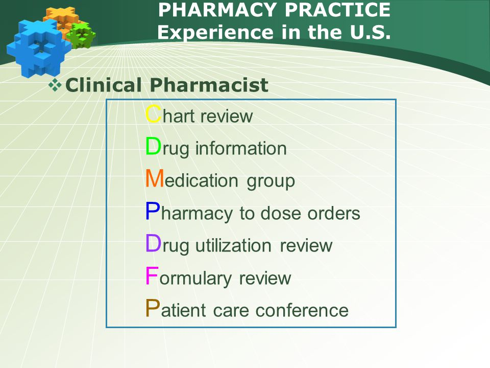 PHARMACY PRACTICE Experience in the U.S.