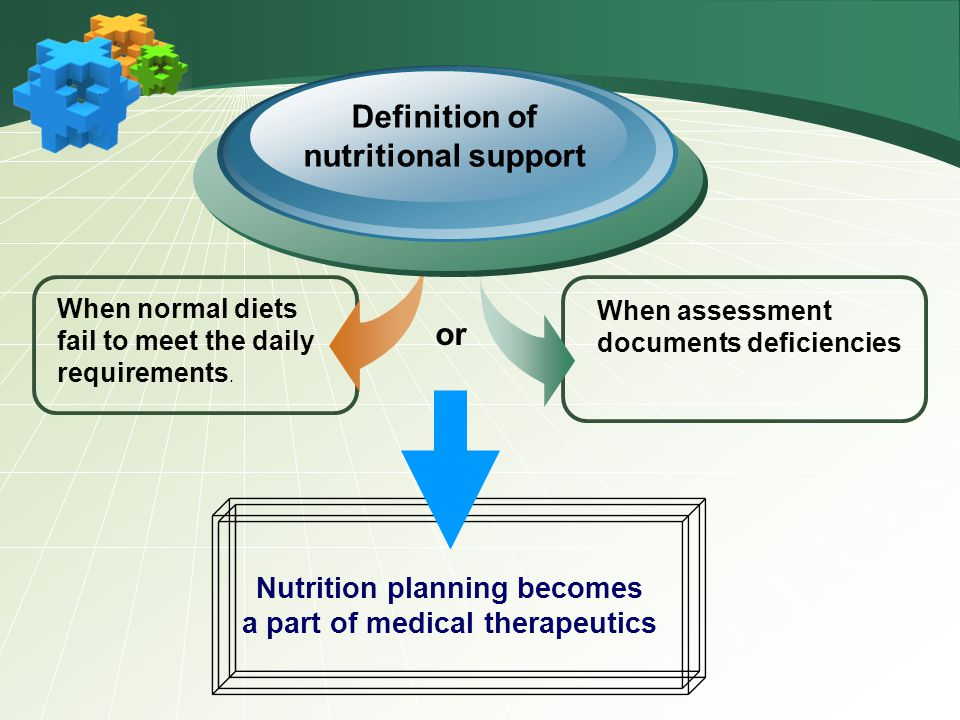 Nutrition planning becomes a part of medical therapeutics