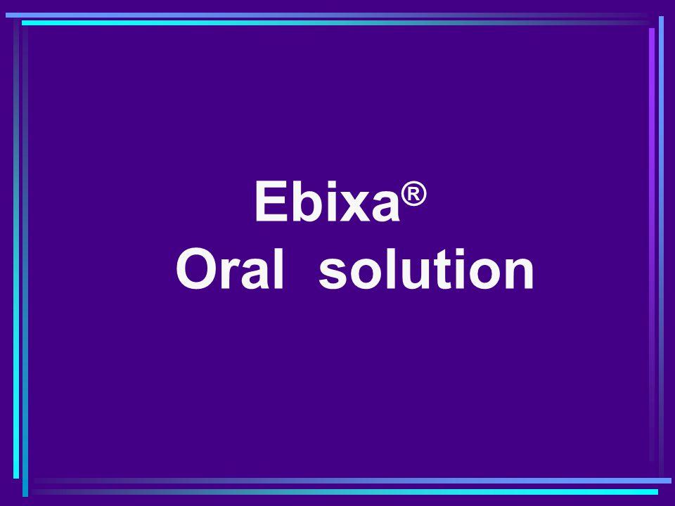Ebixa® Oral solution