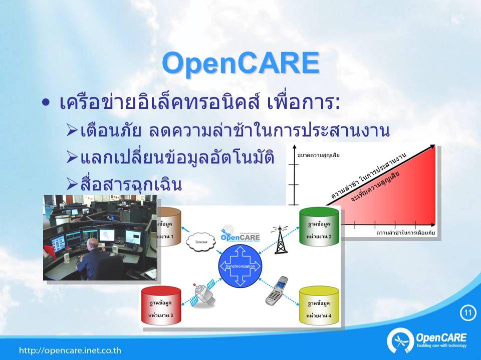 OpenCARE เครือข่ายอิเล็คทรอนิคส์ เพื่อการ: