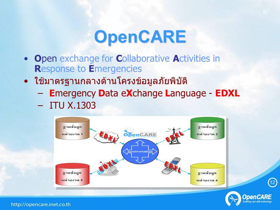 OpenCARE EDXL EDXL EDXL EDXL