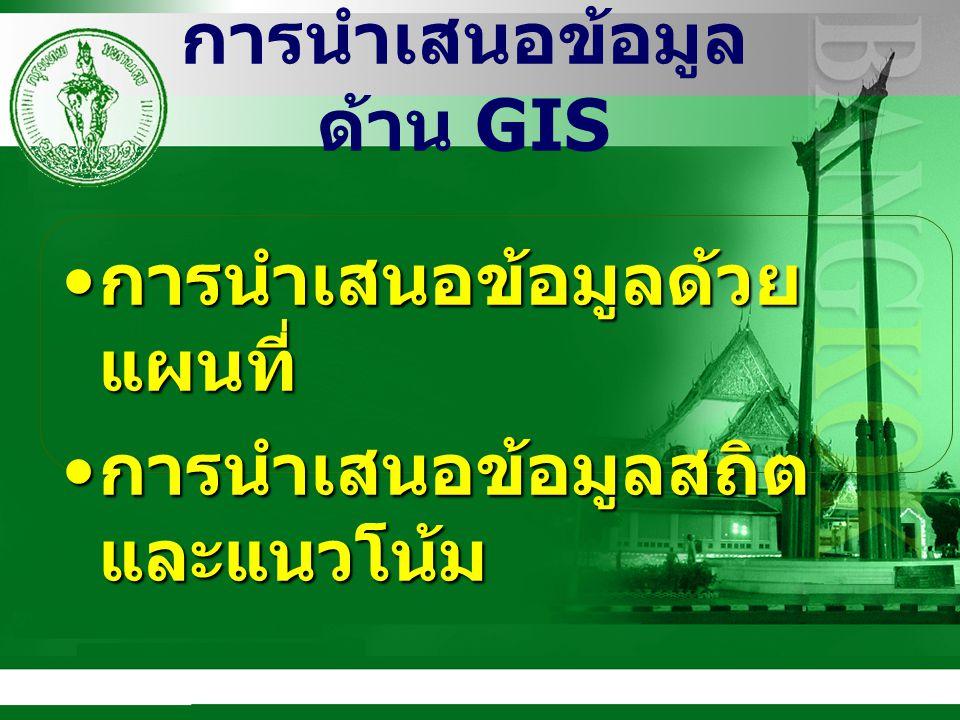 การนำเสนอข้อมูลด้าน GIS