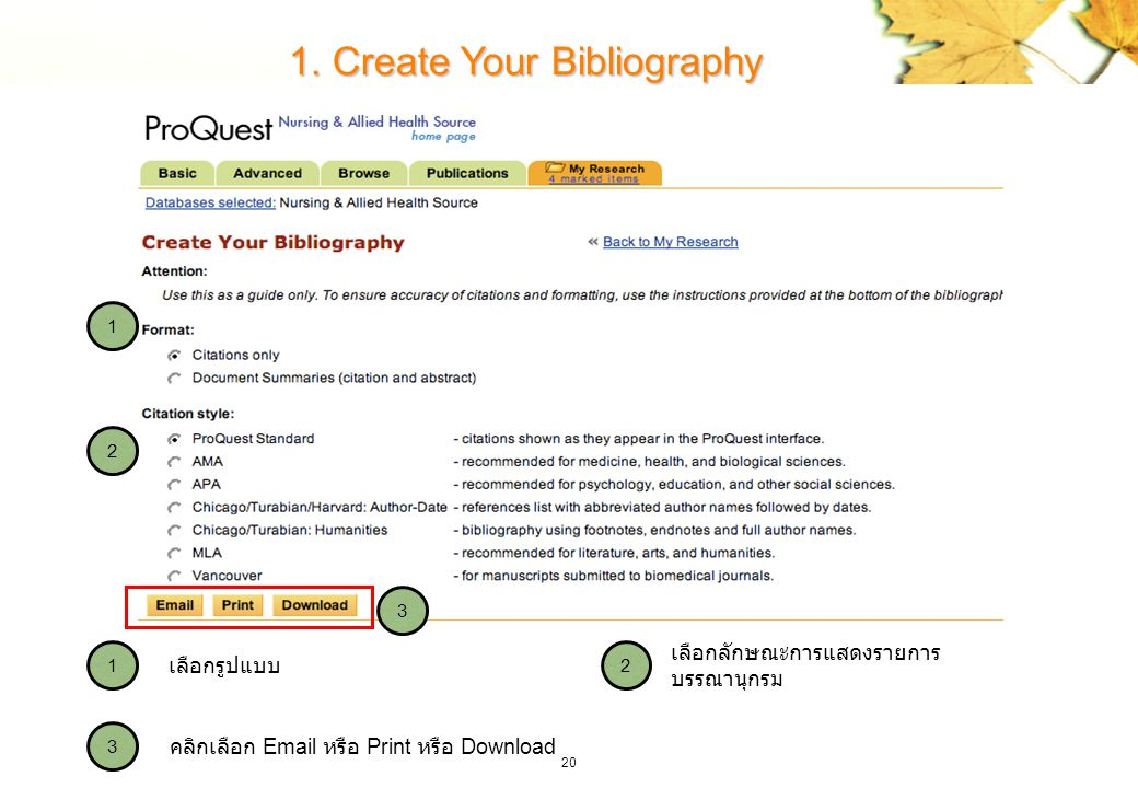 1. Create Your Bibliography