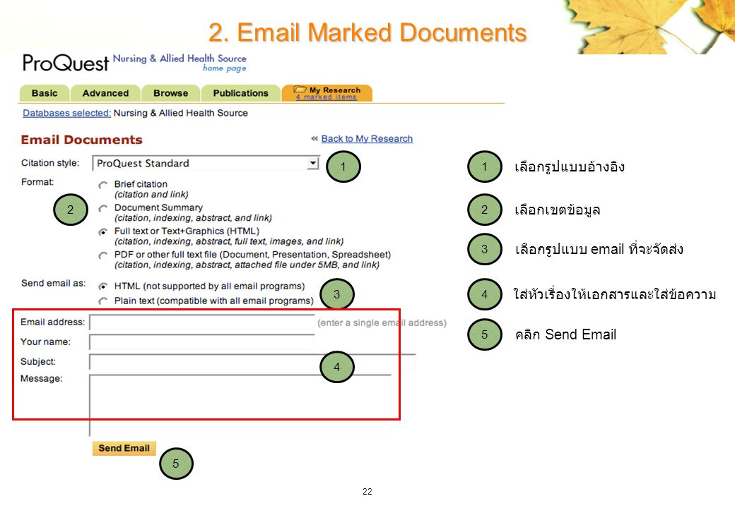 2. Email Marked Documents