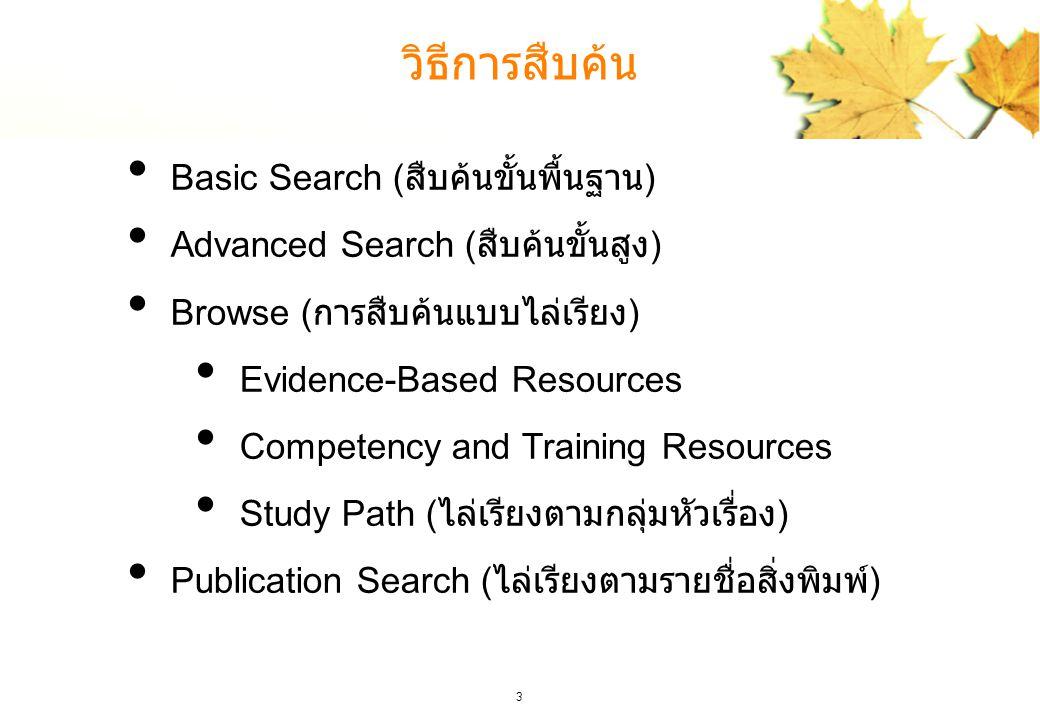 วิธีการสืบค้น Basic Search (สืบค้นขั้นพื้นฐาน)