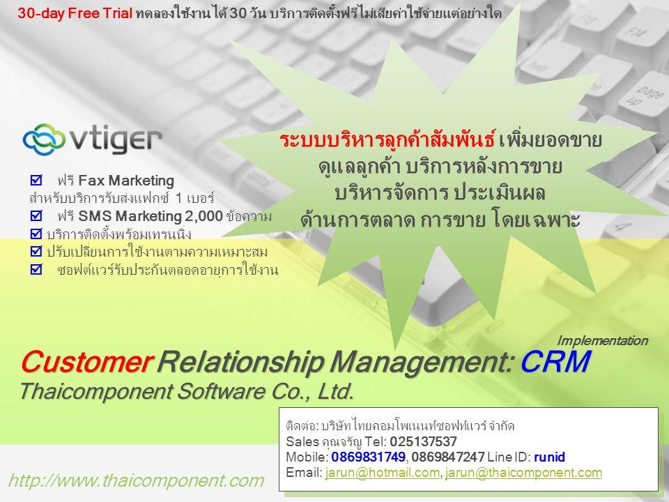 Customer Relationship Management: CRM