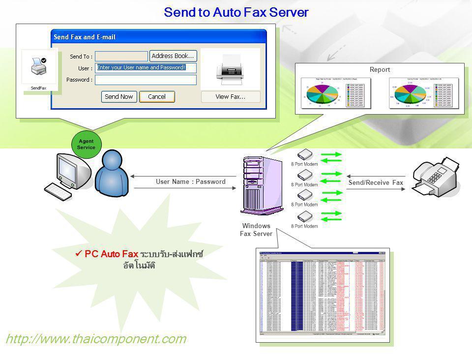  PC Auto Fax ระบบรับ-ส่งแฟกซ์