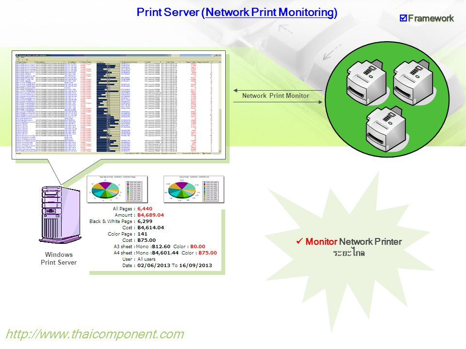 Print Server (Network Print Monitoring)