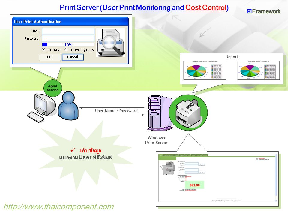 Print Server (User Print Monitoring and Cost Control)