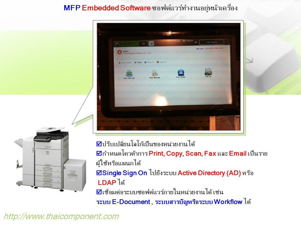 MFP Embedded Software ซอฟต์แวร์ทำงานอยู่หน้าเครื่อง