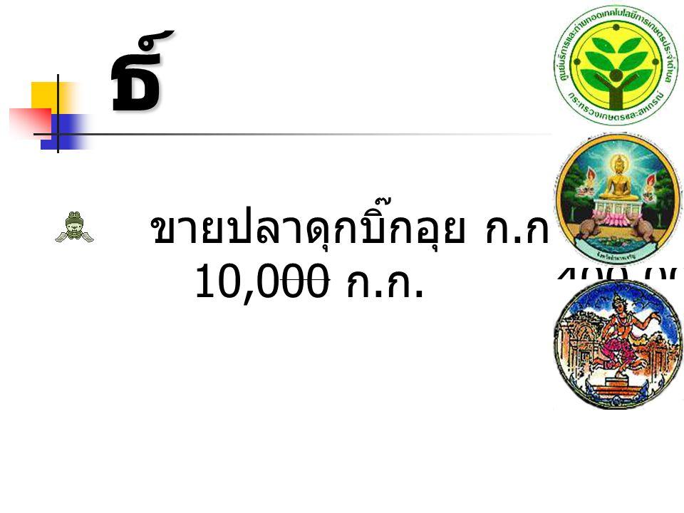 ผลลัพธ์ ขายปลาดุกบิ๊กอุย ก.ก. ละ 40 บาท 10,000 ก.ก. 400,000 บาท