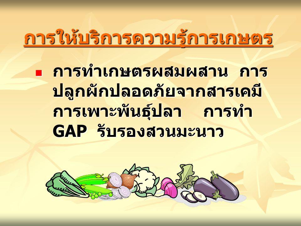 การให้บริการความรู้การเกษตร