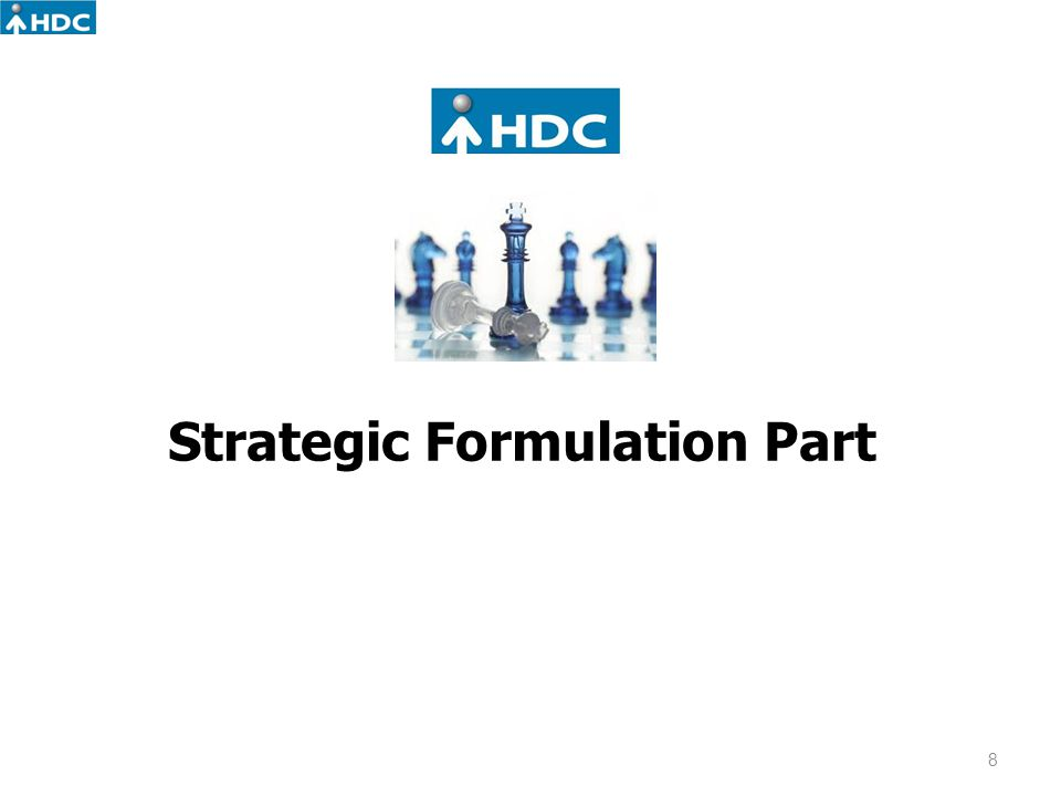 Strategic Formulation Part