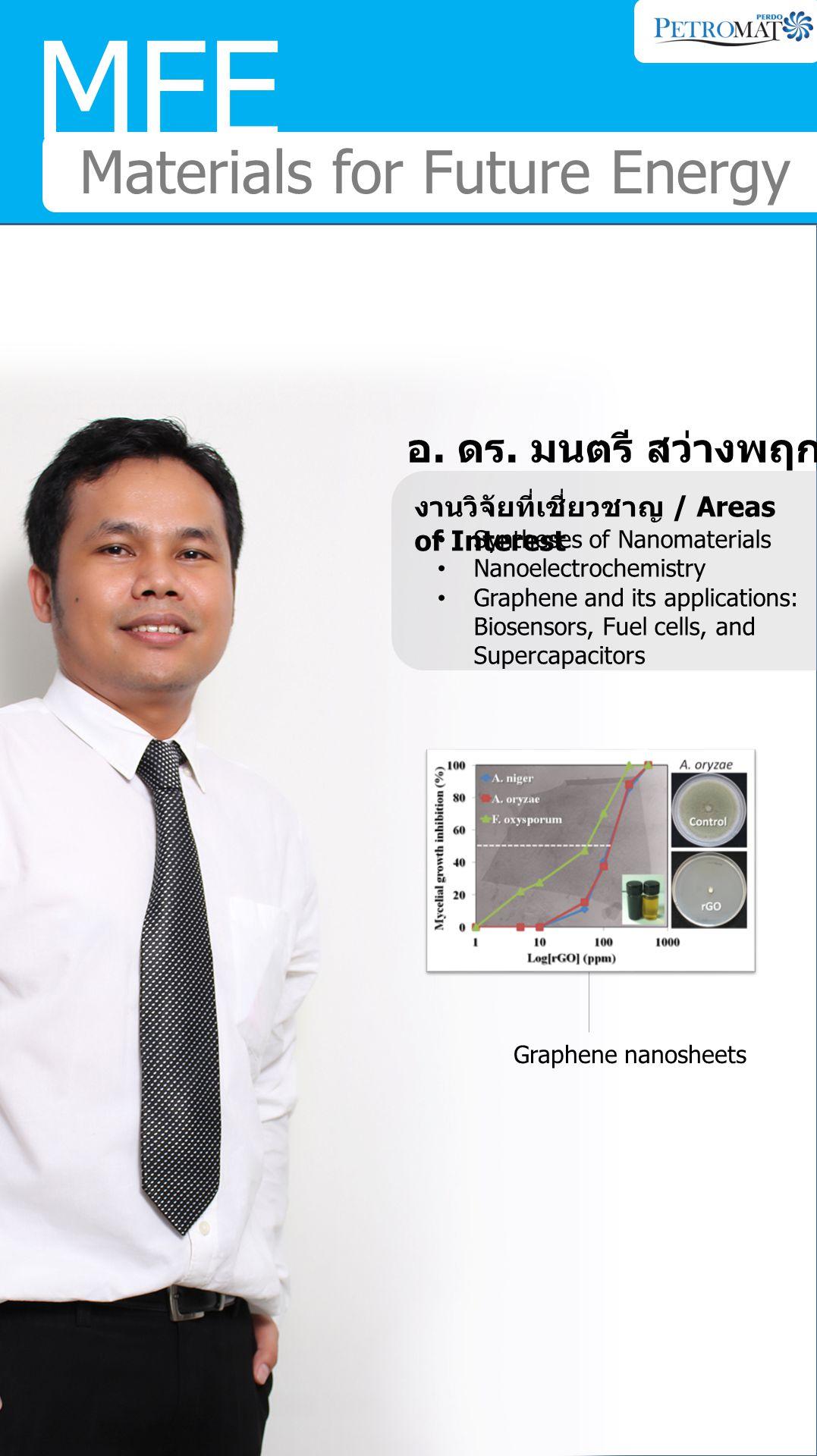 MFE Materials for Future Energy อ. ดร. มนตรี สว่างพฤกษ์