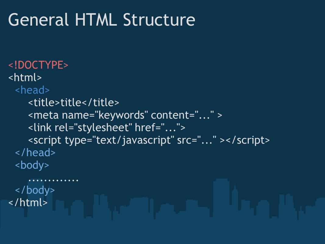 General HTML Structure
