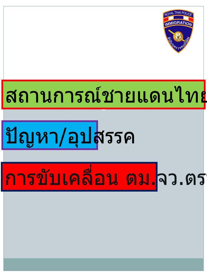 สถานการณ์ชายแดนไทย - กัมพูชา
