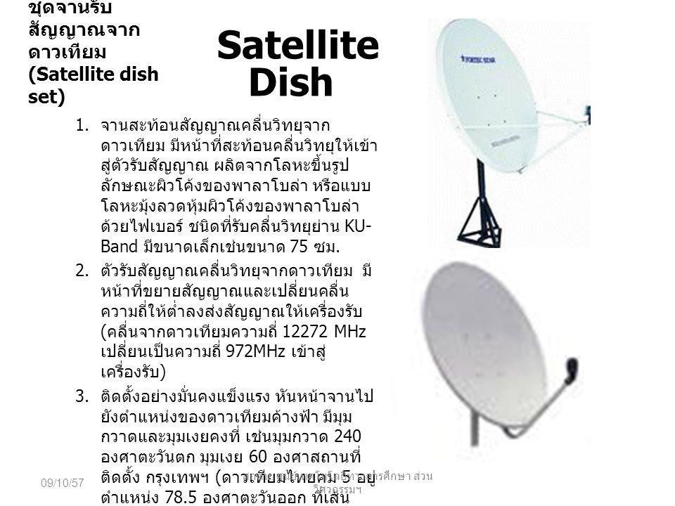 ชุดจานรับสัญญาณจากดาวเทียม (Satellite dish set)