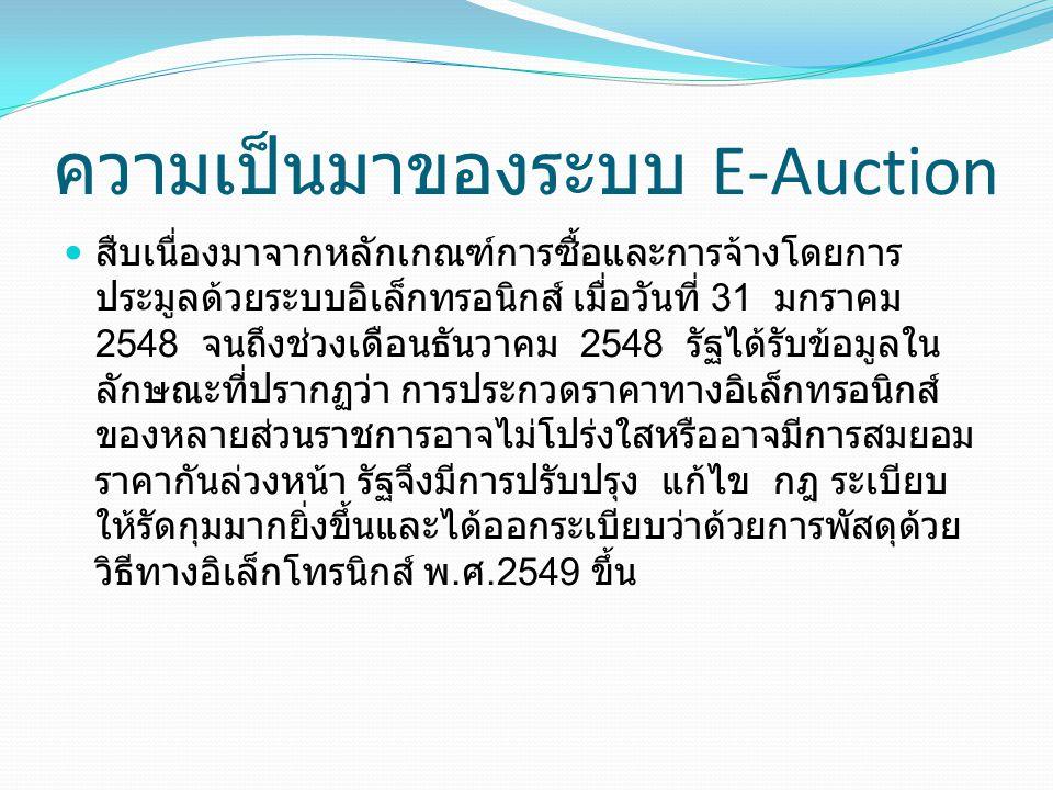 ความเป็นมาของระบบ E-Auction