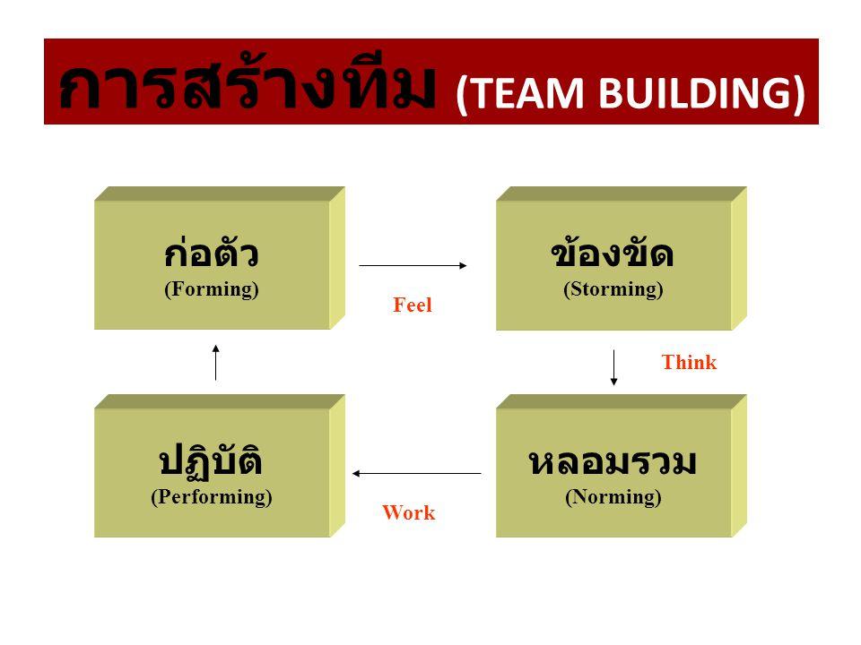 การสร้างทีม (TEAM BUILDING)