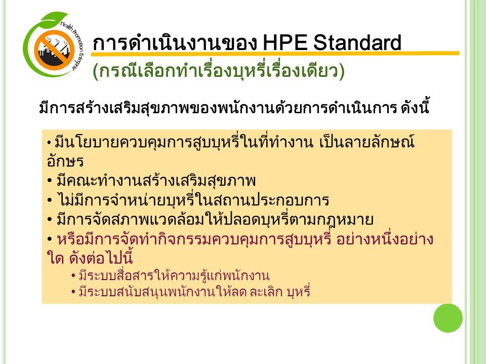 การดำเนินงานของ HPE Standard