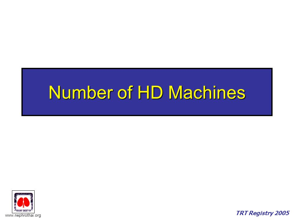 Number of HD Machines