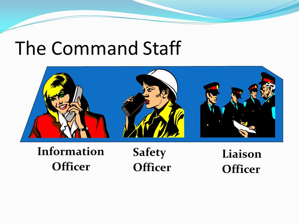 The Command Staff Information Officer Safety Officer Liaison Officer