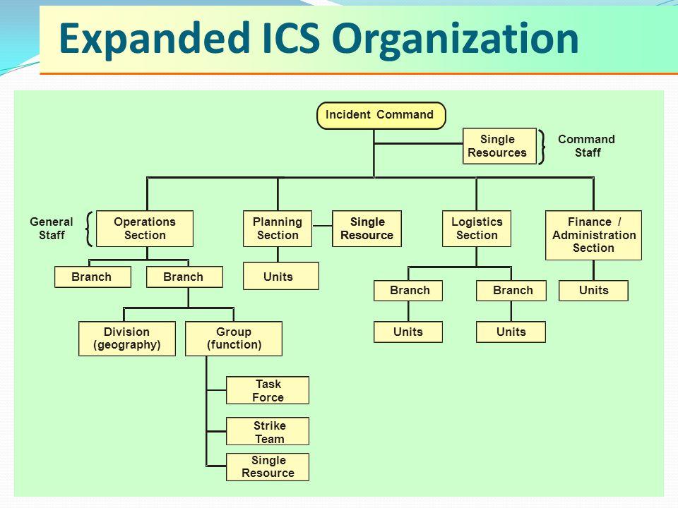 Expanded ICS Organization