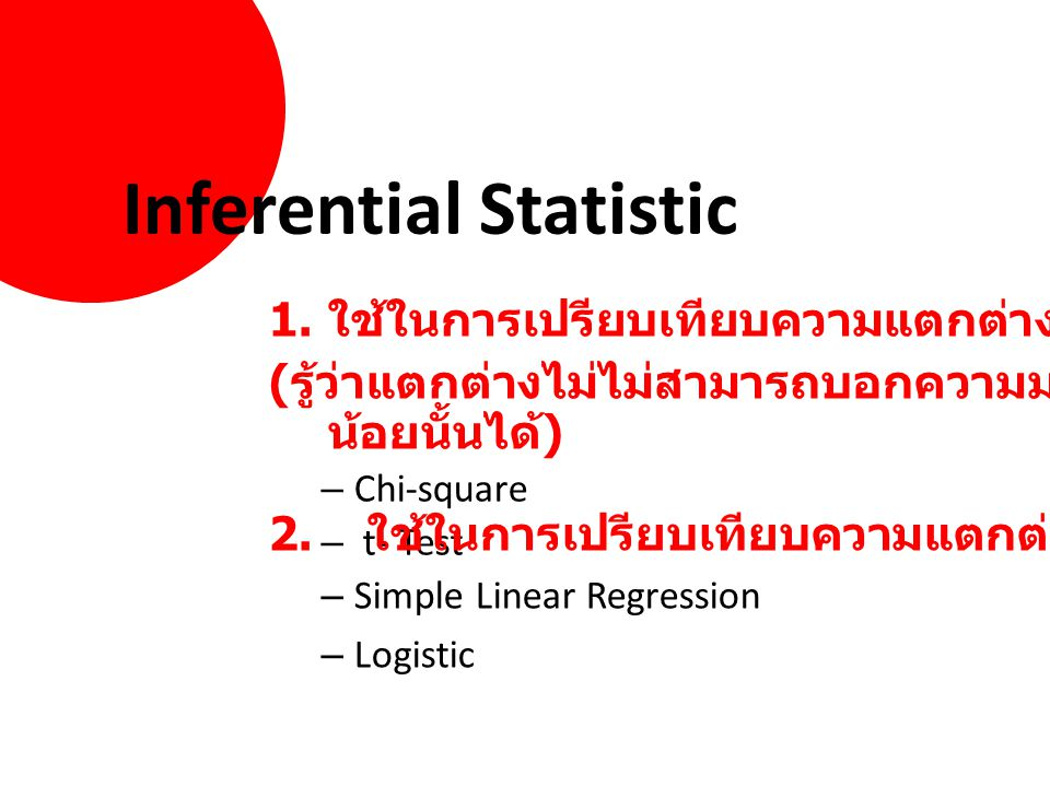 Inferential Statistic