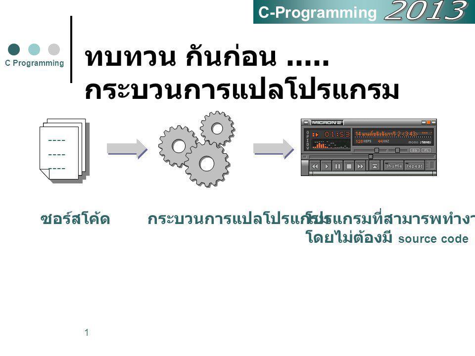 ทบทวน กันก่อน .....กระบวนการแปลโปรแกรม