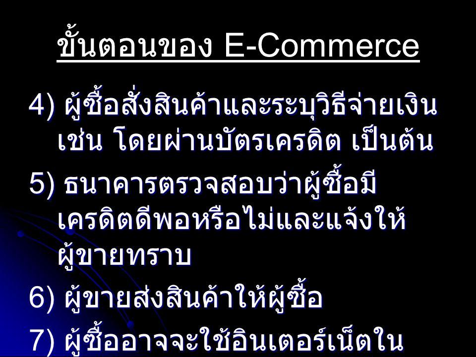 ขั้นตอนของ E-Commerce