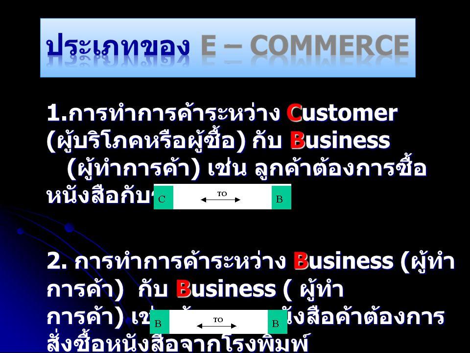 ประเภทของ E – Commerce