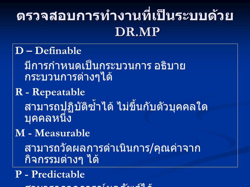 ตรวจสอบการทำงานที่เป็นระบบด้วย DR.MP
