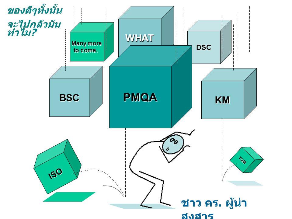 . . PMQA ชาว คร. ผู้น่าสงสาร ของดีๆทั้งนั้น จะไปกลัวมันทำไม WHAT BSC