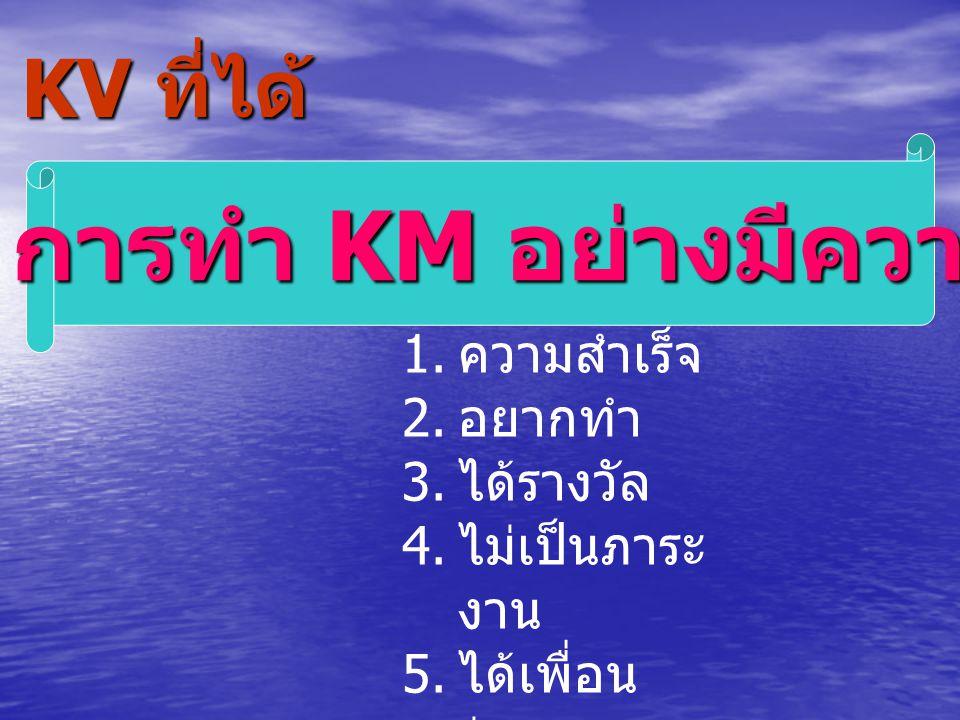 KV: การทำ KM อย่างมีความสุข