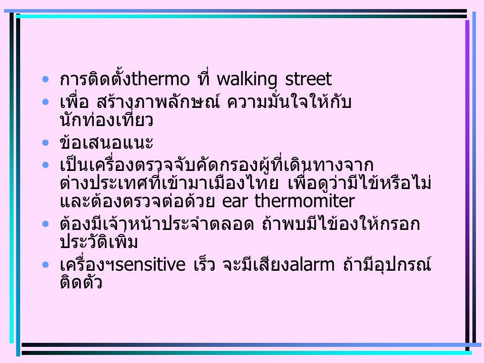 การติดตั้งthermo ที่ walking street