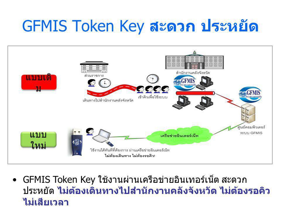 GFMIS Token Key สะดวก ประหยัด