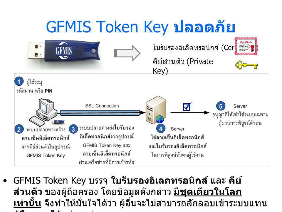 GFMIS Token Key ปลอดภัย