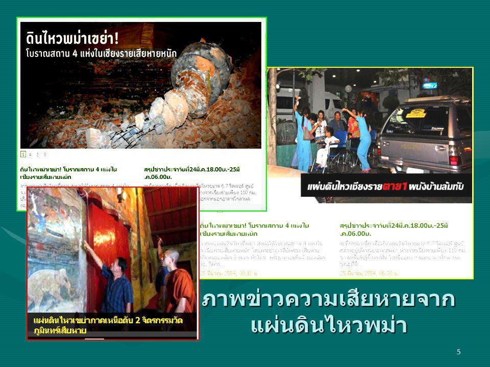 ภาพข่าวความเสียหายจากแผ่นดินไหวพม่า