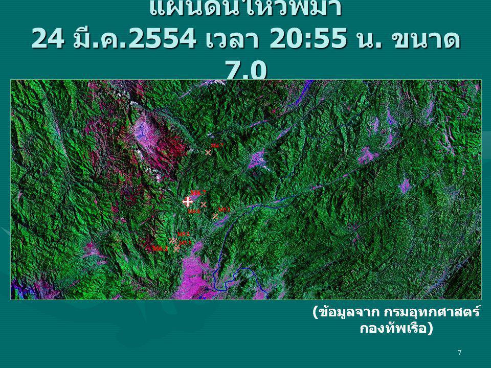 แผ่นดินไหวพม่า 24 มี.ค.2554 เวลา 20:55 น. ขนาด 7.0