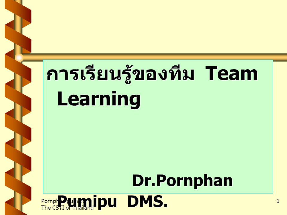 การเรียนรู้ของทีม Team Learning