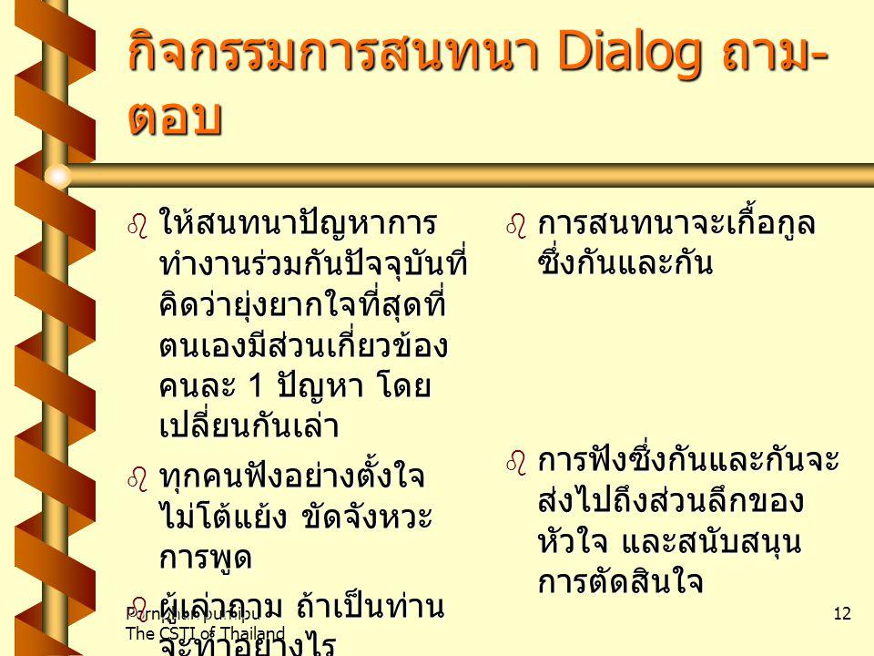 กิจกรรมการสนทนา Dialog ถาม-ตอบ