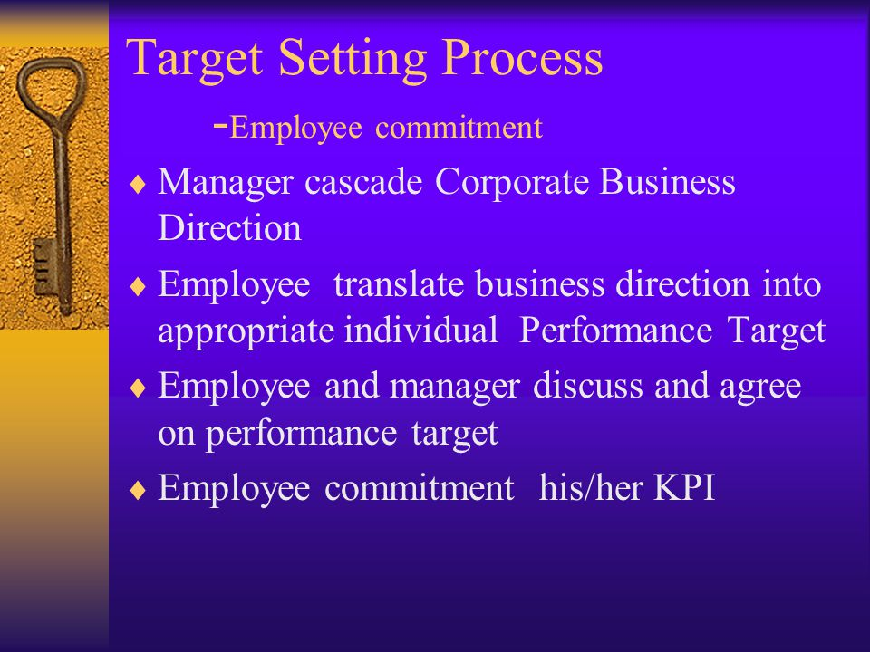 Target Setting Process -Employee commitment