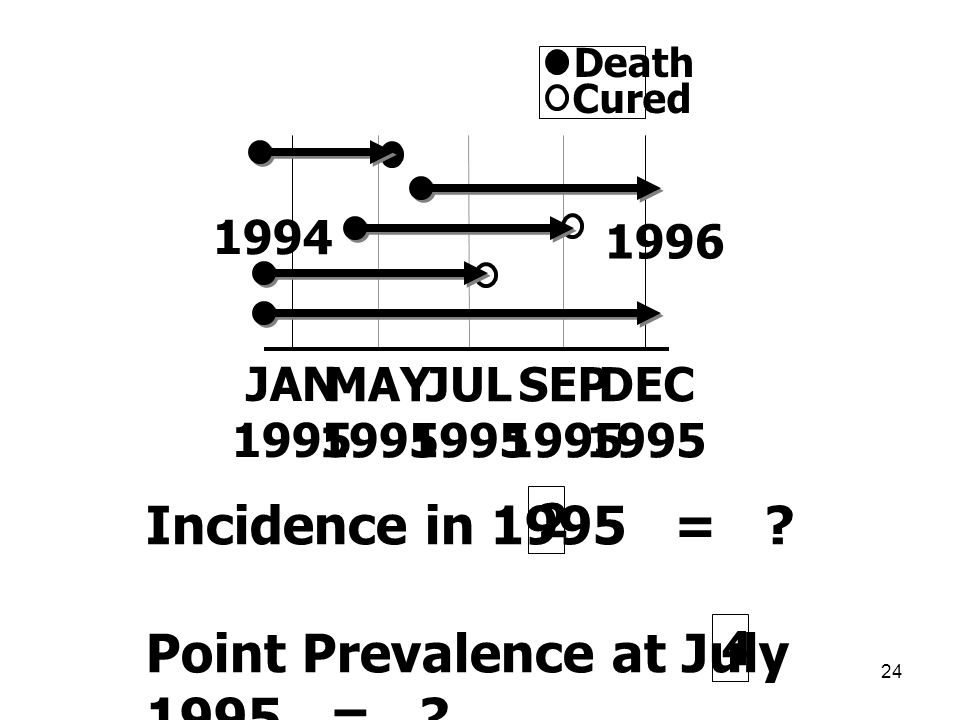 Point Prevalence at July 1995 =