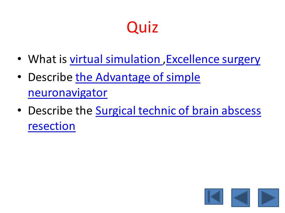 Quiz What is virtual simulation ,Excellence surgery