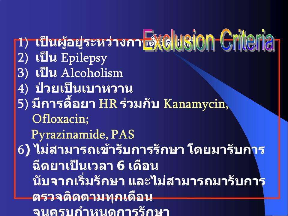 Exclusion Criteria เป็นผู้อยู่ระหว่างการตั้งครรภ์ เป็น Epilepsy