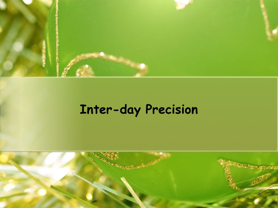Inter-day Precision